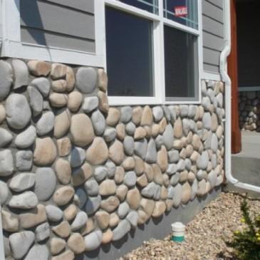 Отделка декоративным камнем, как способ сделать загородный дом уникальным и стильным
